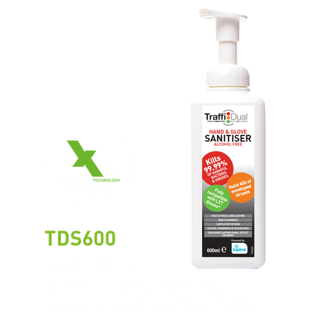 TDS600 Dual Hand Foam Sanitizer Alcohol Free 600ml