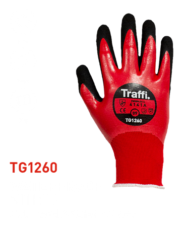 TG1260 Waterproof Nitrile Full Dip Glove