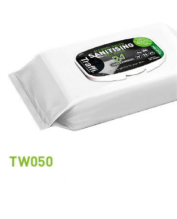 TW050A Alcohol Based Sanitising Wipes (50pack)